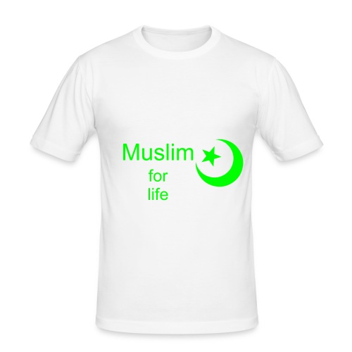 Muslim for life - slim fit T-shirt