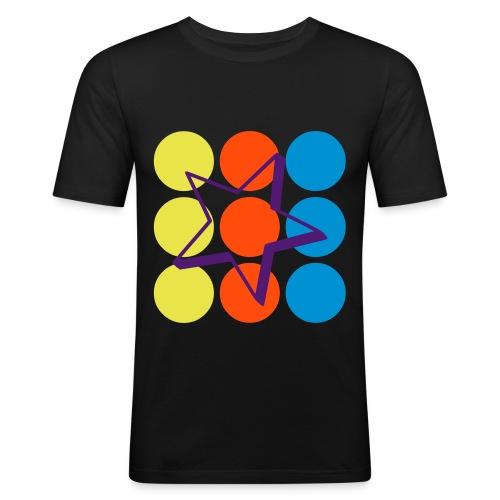 Dots & a Star - Männer Slim Fit T-Shirt