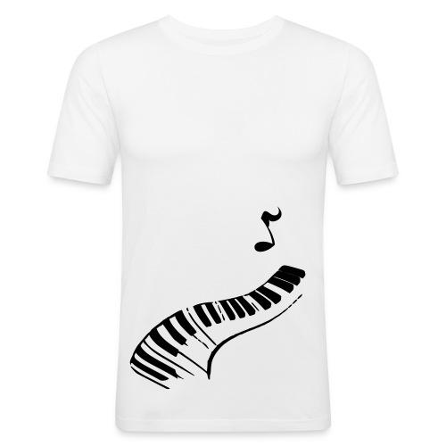 White pjanno ! - T-shirt près du corps Homme