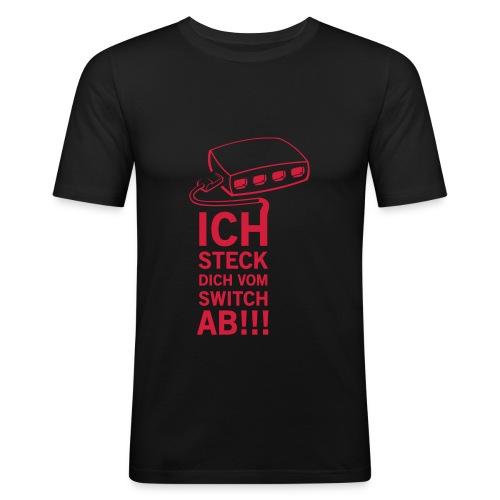 Lannatics Orga Shirt Figurbetont - Männer Slim Fit T-Shirt