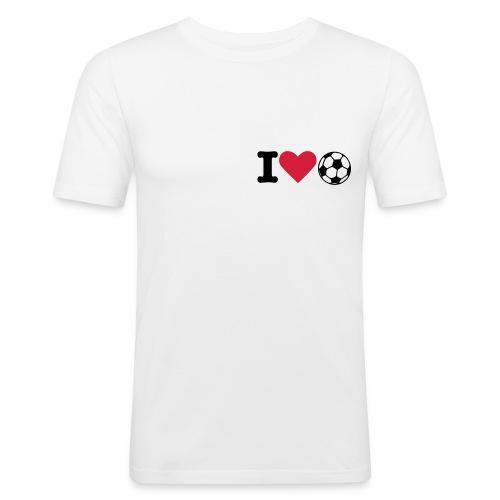 Slim fit Shirt weiß - Männer Slim Fit T-Shirt