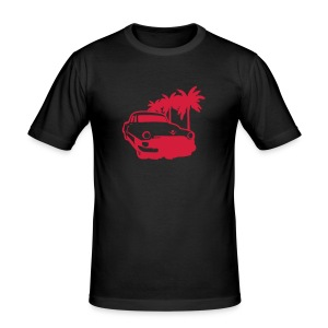 Car Lowrider Palm - Men's Slim Fit T-Shirt