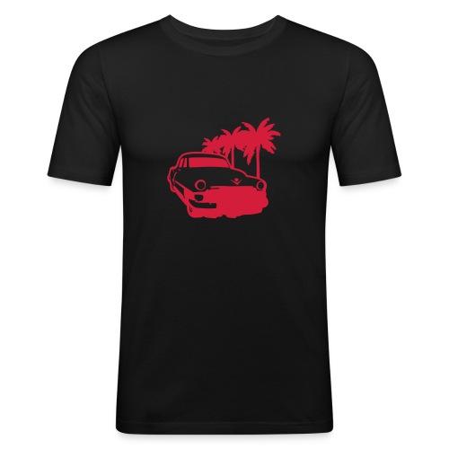 Car Lowrider Palm - Men's Slim Fit T-Shirt