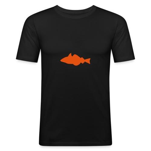 Fisch - schwartz/oransje - slim - Männer Slim Fit T-Shirt