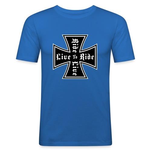 Live to ride slim fit - Slim Fit T-skjorte for menn