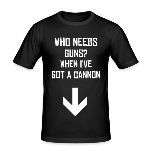 Who needs Guns ? - Men's Slim Fit T-Shirt