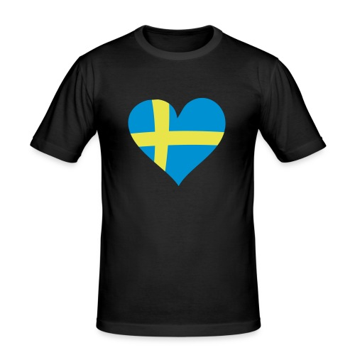Love Schweden Shirt - Männer Slim Fit T-Shirt