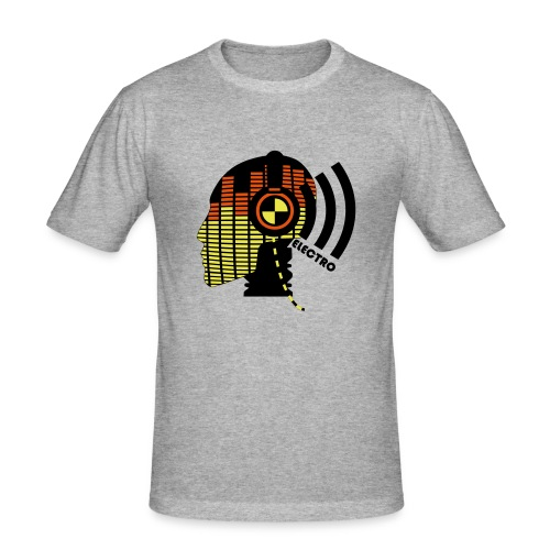 Streetwear - I like muuuusic - Slim Fit T-shirt herr