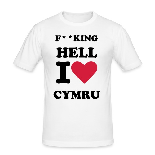 Cymru Love T-Shirt - Men's Slim Fit T-Shirt