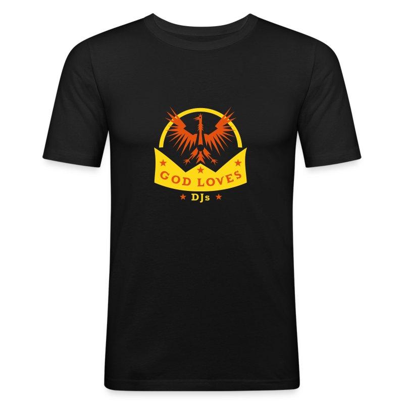 God Loves DJs - Shirt - Männer Slim Fit T-Shirt
