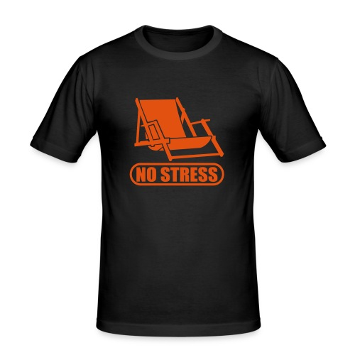 No Stress Mens Slim Fit T - Shirt - Men's Slim Fit T-Shirt