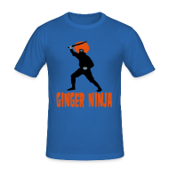 T-Shirts ~ Men's Slim Fit T-Shirt ~ Ginger Ninja Simple T