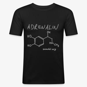 Adrenalin Silver Grey - Männer Slim Fit T-Shirt