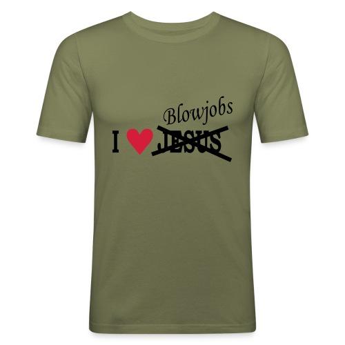 I love Jesus. T-shirt - Herre Slim Fit T-Shirt