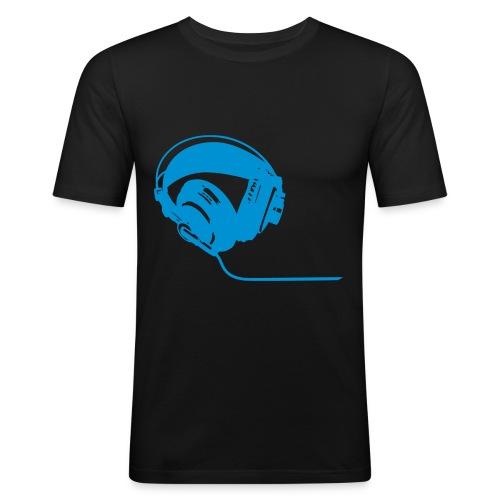 HeadPhones Blue - Men's Slim Fit T-Shirt