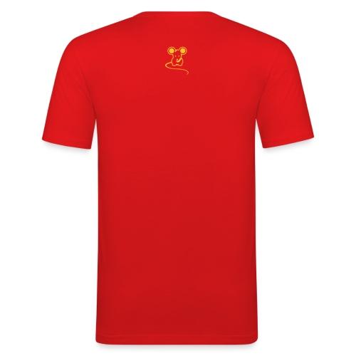 Men's Original mousey inc. Slim - Red/Yellow - Men's Slim Fit T-Shirt
