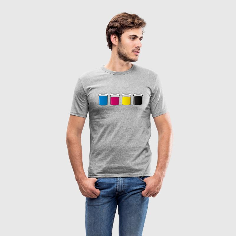 Grå meleret  T-shirts - Herre Slim Fit T-Shirt