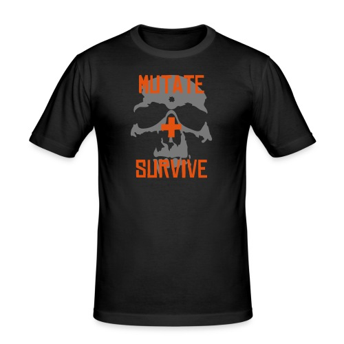 Mutate = Survive - Men's Slim Fit T-Shirt