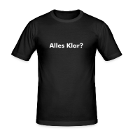 T-Shirts ~ Männer Slim Fit T-Shirt ~ Alles Klar Slim Fit Shirt