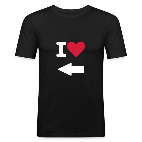 I Love --- - T-shirt près du corps Homme