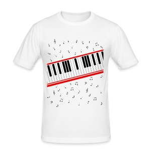 Beat It – Piano Shirt (Slim Fit Herren) - Männer Slim Fit T-Shirt