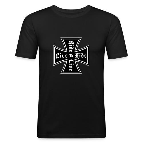 Live to ride - Miesten tyköistuva t-paita
