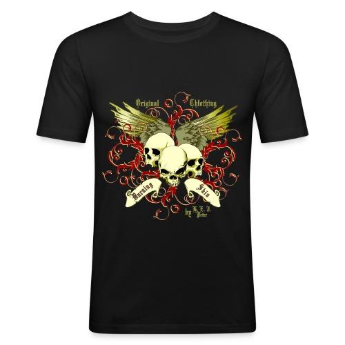 BurningSkin-Skulls/slim - Männer Slim Fit T-Shirt