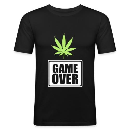 GAME OVER design v2 - Maglietta aderente da uomo