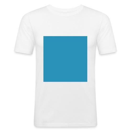 Viereck - weiß - Männer Slim Fit T-Shirt
