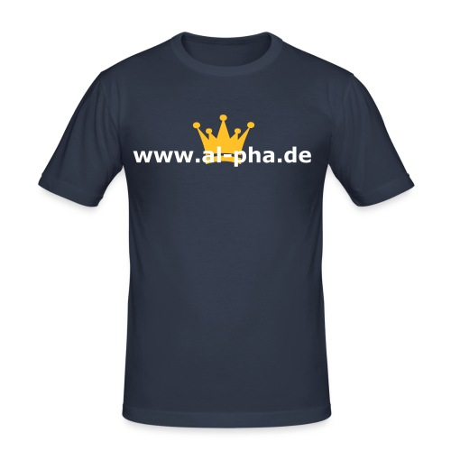 al-pha.de Shirt - Männer Slim Fit T-Shirt