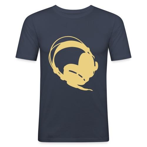 Headphones 2 creme (heren) - slim fit T-shirt