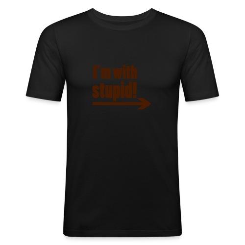 With Stupid - Männer Slim Fit T-Shirt
