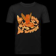 T-shirts ~ Herre Slim Fit T-Shirt ~ Go fish! Be happy!, slimfit t-shirt