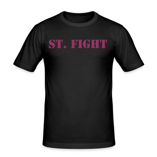 St. Fight T-Shirt Frontside - Männer Slim Fit T-Shirt