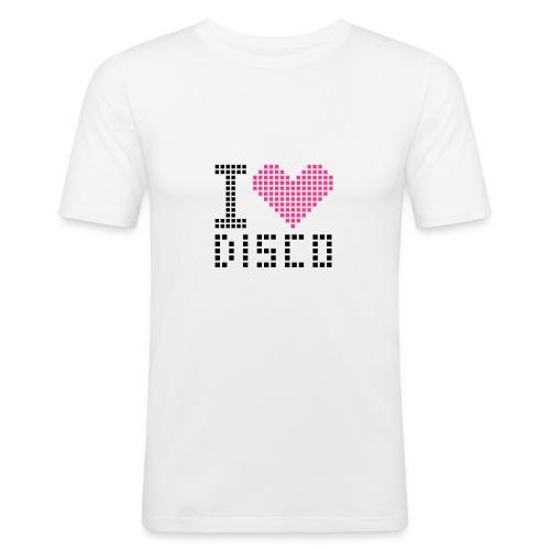 Luv:disco - Miesten tyköistuva t-paita