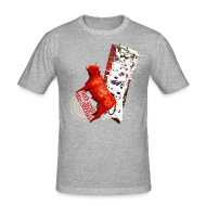 T-shirts ~ Herre Slim Fit T-Shirt ~ Let out the bull, t-shirt