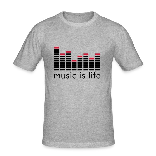 T-Shirt music is life - Männer Slim Fit T-Shirt