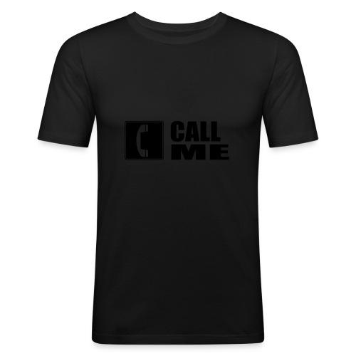 call me  - T-shirt près du corps Homme