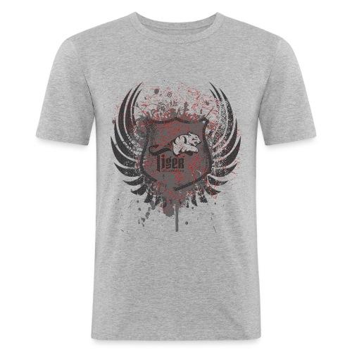 CC   Tiger vintage style - Männer Slim Fit T-Shirt