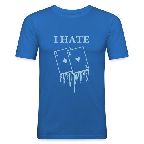 I hate AA... UOMO - Maglietta aderente da uomo