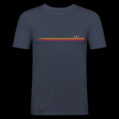 Robo-Collection: Pixelstripe - Men's Slim Fit T-Shirt