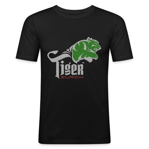 CC   stone look green red - Männer Slim Fit T-Shirt