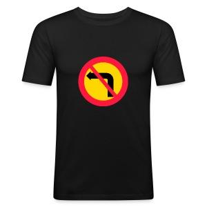 Förbjuden vänstersväng - Slim Fit T-shirt herr