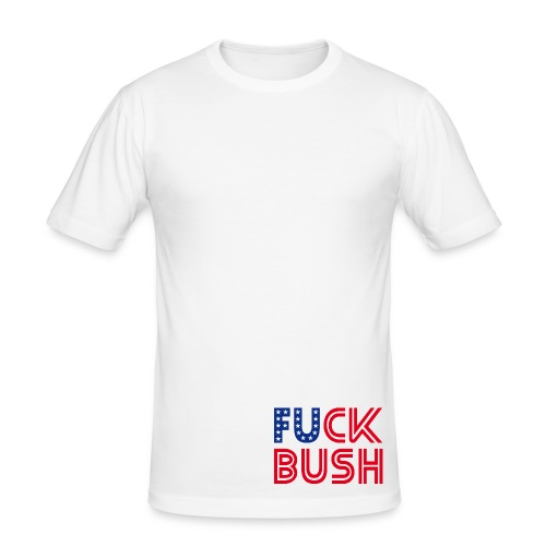 F**K Bush T Shirt - Men's Slim Fit T-Shirt