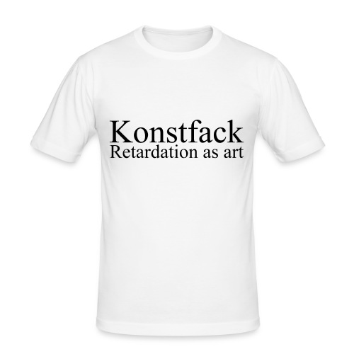 Retardation as art - Slim Fit T-shirt herr