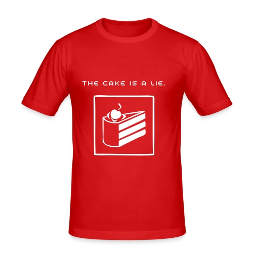 The cake is a lie. - Slim Fit T-shirt herr