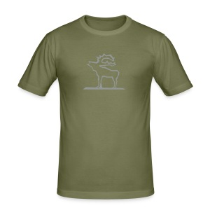 Elch T-Shirt - Männer Slim Fit T-Shirt
