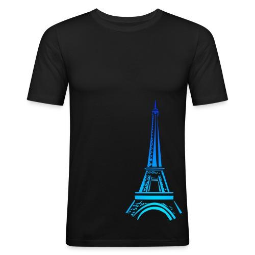T-shirt paris tour eiffel panam - T-shirt près du corps Homme