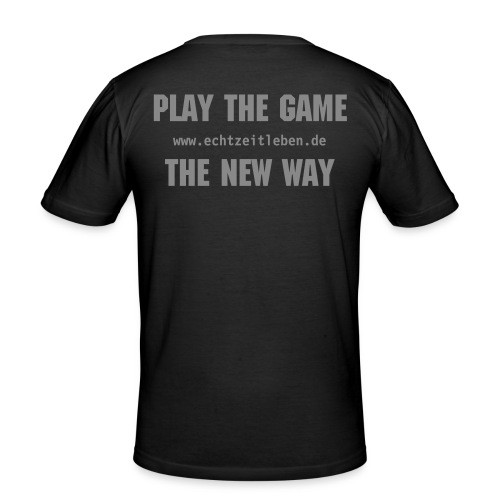 Play the Game Silver Glitter - Männer Slim Fit T-Shirt