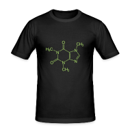 T-shirts ~ slim fit T-shirt ~ Caffeine structure (Leonard)